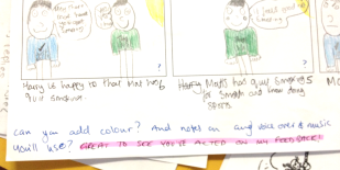 HIghlight when students act on feedback