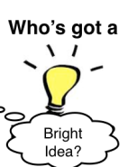 who has a bright idea?