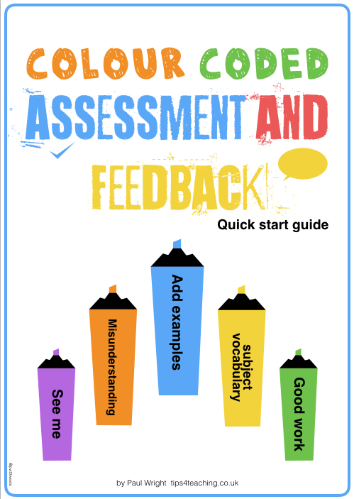 Colour coded assessment quick start guide cover image