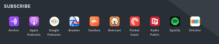 Podcast subscribe bar