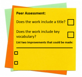 assessment sticky note